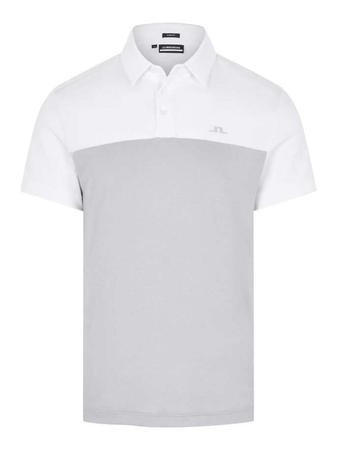 OWEN SLIM FIT POLO SHIRT, Stone Grey Melange, large