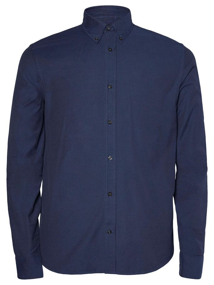 DANIEL BUTTON-DOWN STRETCH OXFORD CASUAL SHIRT, JL Navy, large