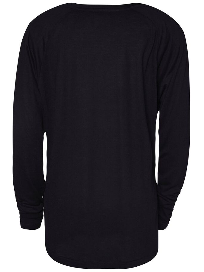 RENÉ DRAPY JERSEY LONG-SLEEVED T-SHIRT, Black, large