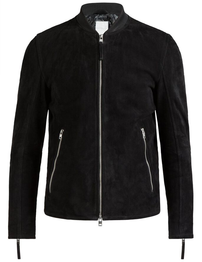 TREY 72 SUEDE JACKET, Black, large