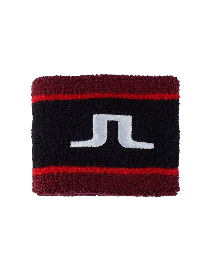 COTTON TERRY LOGO SWEAT BAND, Black, large