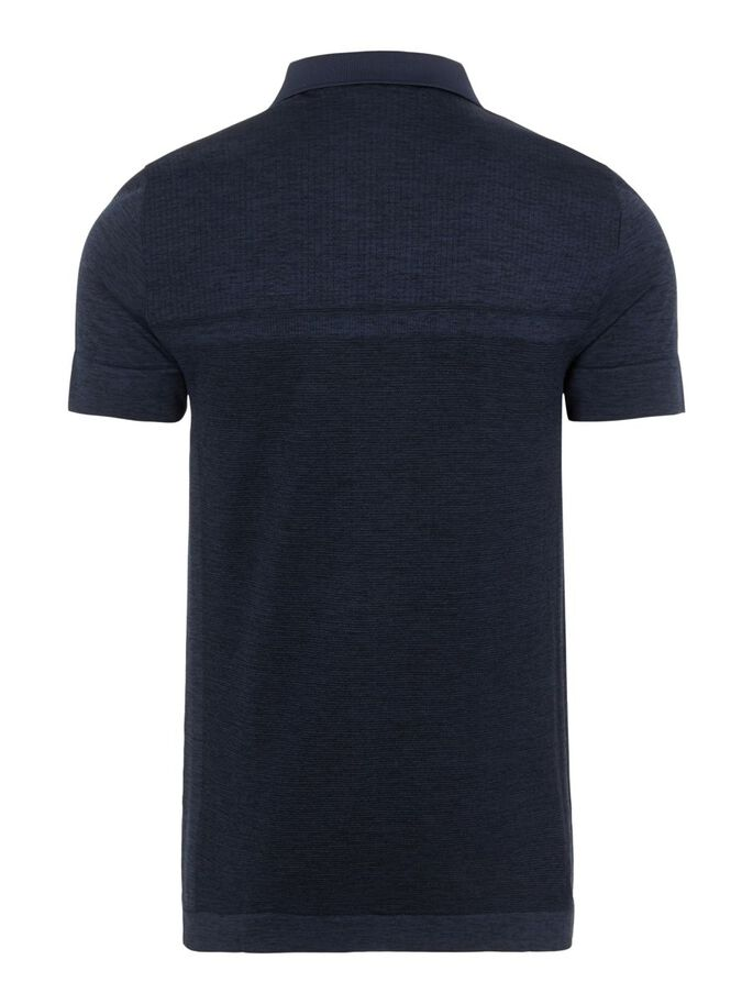 ALFY SEAMLESS POLO, Navy Melange, large