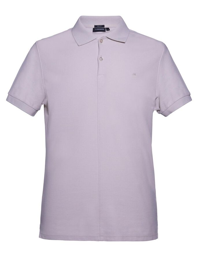 RUBI SLIM JL PIQUE POLO SHIRT, Pale Powder, large