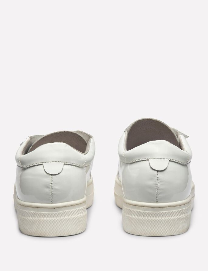PATENT LEATHER SNEAKERS, White, large