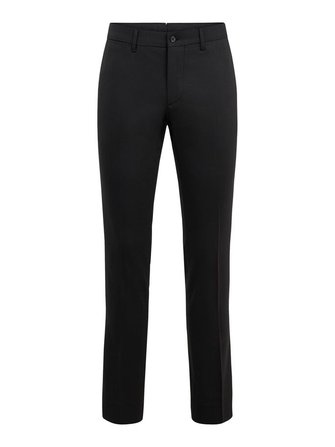 GRANT STRETCH TWILL TROUSERS, Black, large