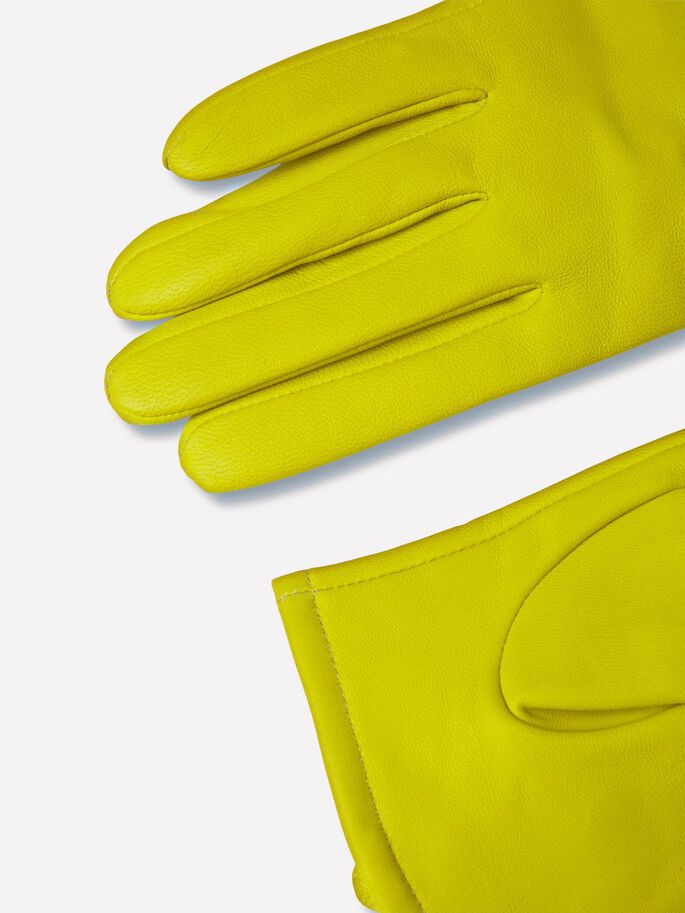 JL GENUINE LEATHER GLOVES, Lemon, large