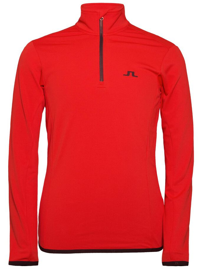 KIMBALL T-NECK FIELDSENSOR SWEAT JACKET, Racing Red, large