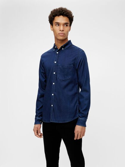 INDIGO SOFT STRETCH SLIM FIT SHIRT