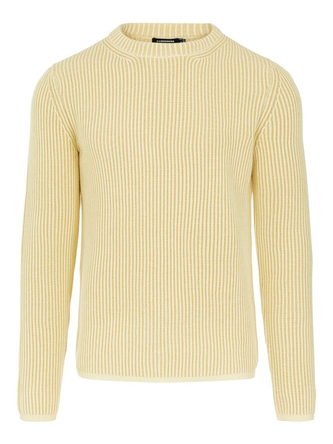 REMUS STRUCTURED SWEATER, Royal Yellow, large