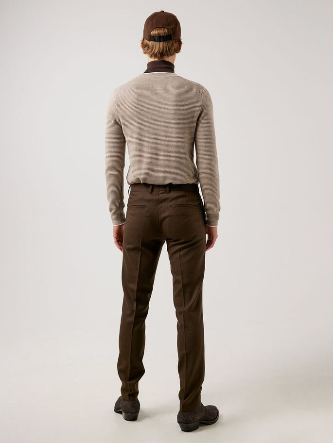 GRANT ACTIVE HOPSACK TROUSERS, Umber Brown, large