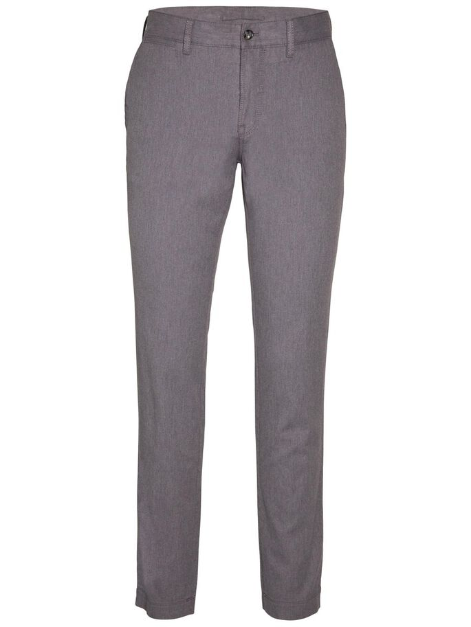 CHAZE FLANNEL TWILL CHINOS, Grey Melange, large