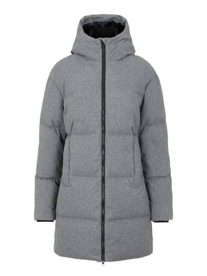 RADIATOR DOWN PARKA COAT, Grey Melange, large