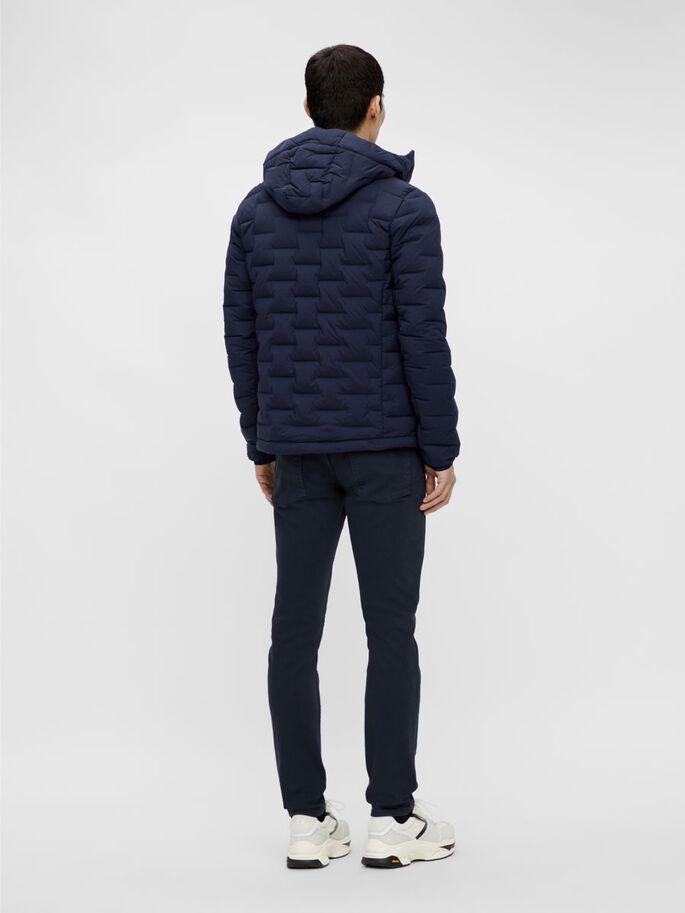 EASE HOODED LINER DOWN JACKET, JL Navy, large
