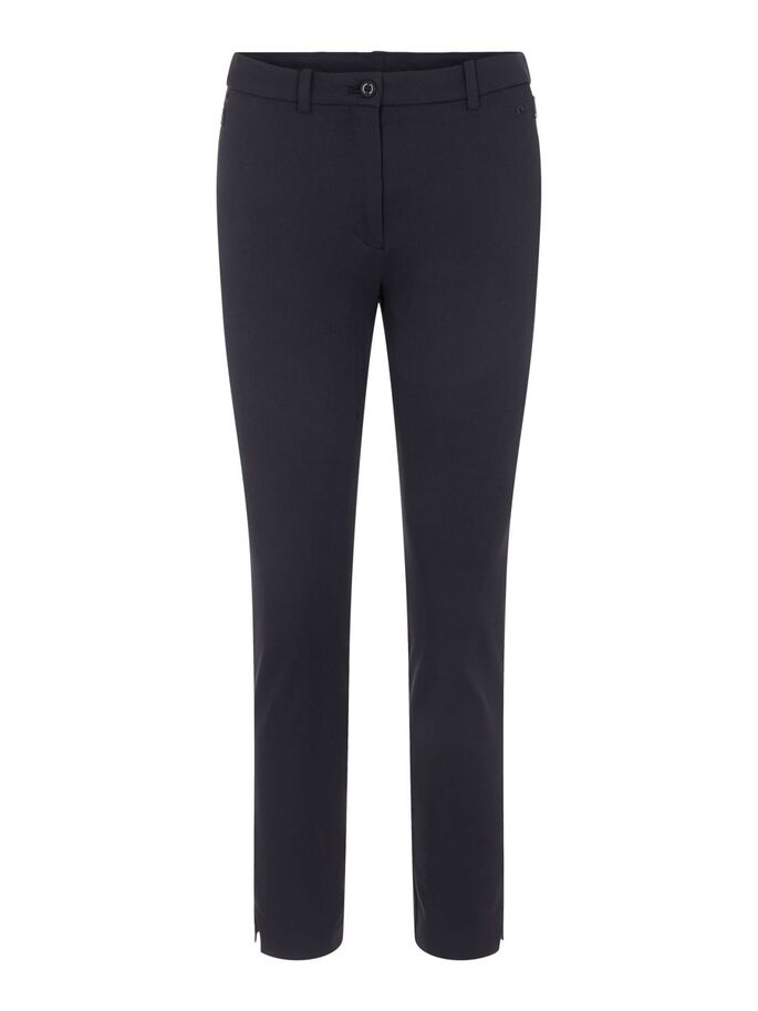LEI TWILL TROUSERS, Black, large