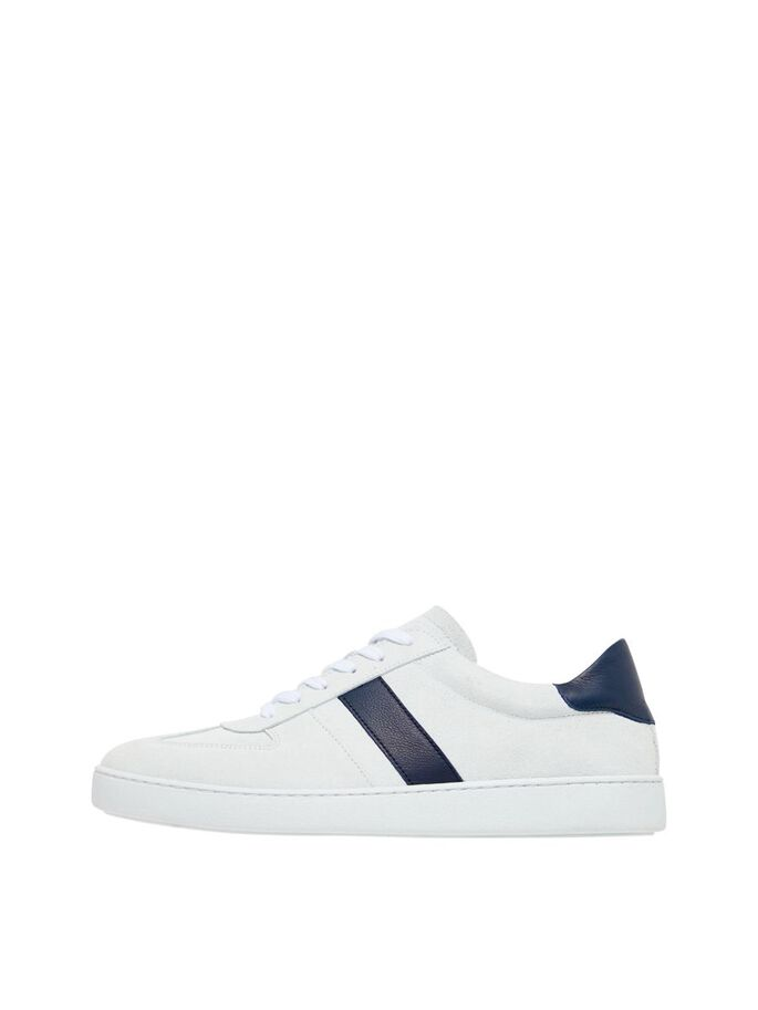 CHRIS SUEDE SNEAKERS, White, large