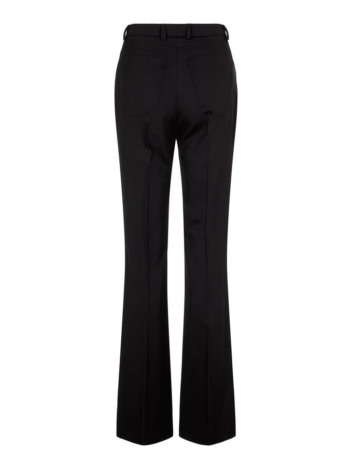 PAIGE ELONGATED FLARE HOSE, Black, large
