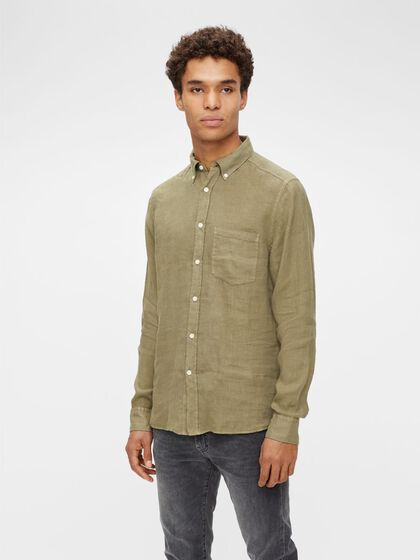 LINEN SLIM FIT SHIRT