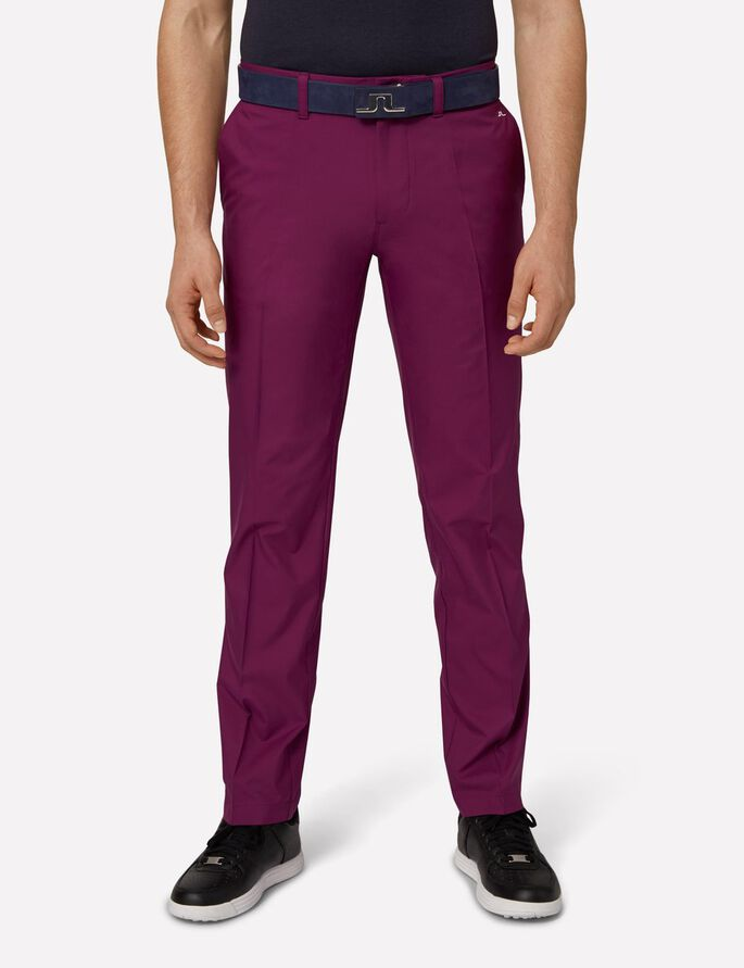 ELOF SLIM FIT LEICHTE POLY HOSE, Deep Purple, large
