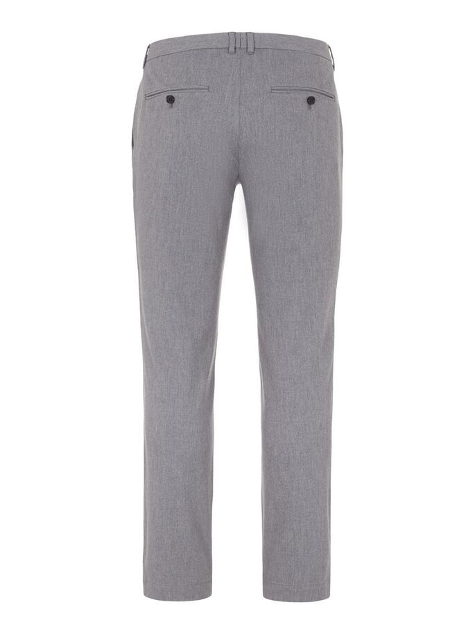 CHAZE FLANNEL TWILL TROUSERS, Lt Grey Melange, large