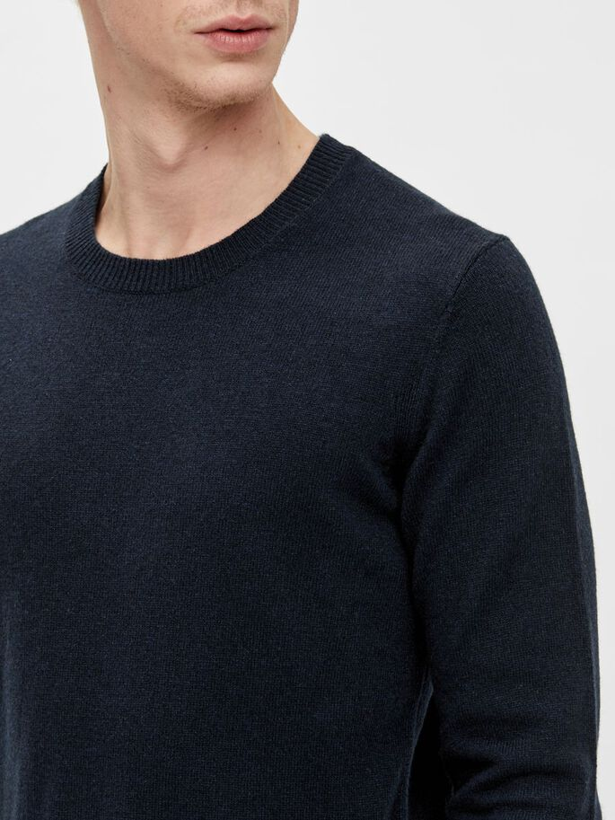 CABE CREW NECK SWEATER, JL Navy, large