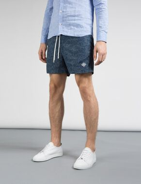 BANKS PATTERN SWIMSHORTS