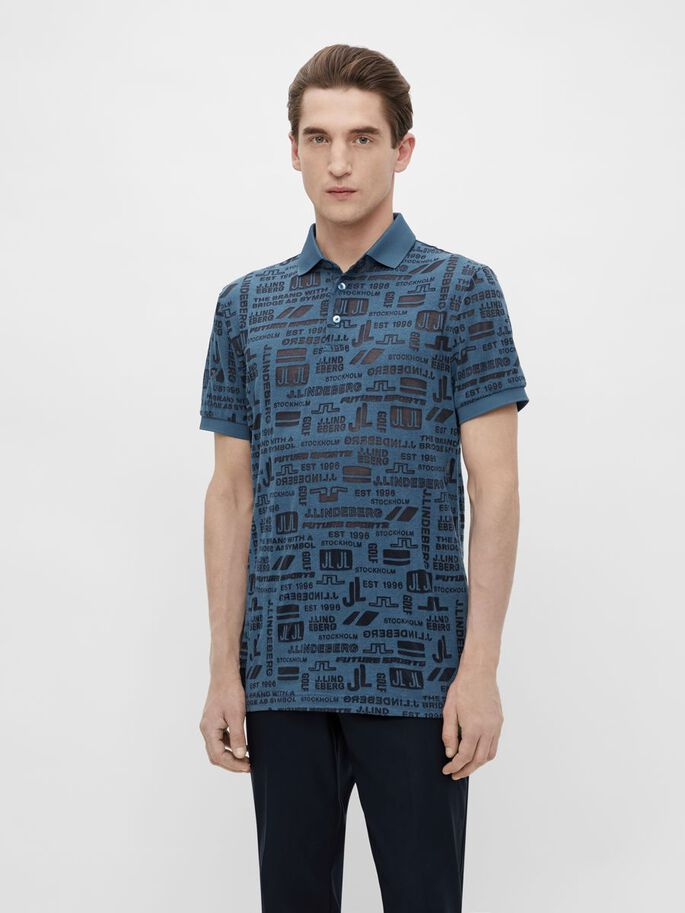 KV REGULAR FIT POLOSHIRT, JL FUTURE NAVY, large