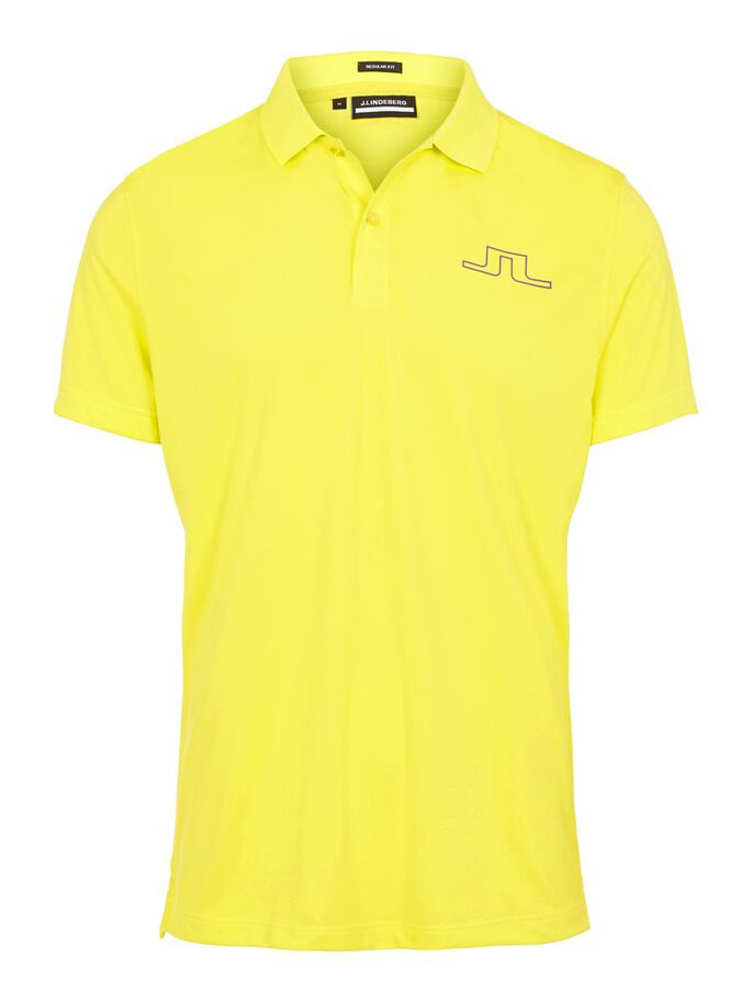 BRIDGE REGULAR FIT POLO, Leaf Yellow, large