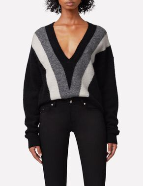MALLORY FINE MOHAIR KNITTED PULLOVER