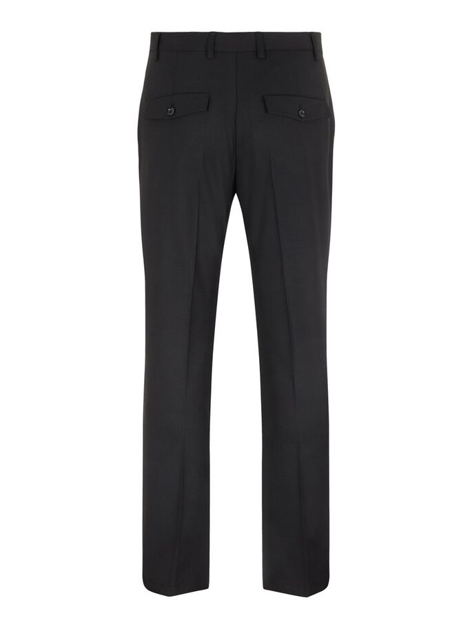CHET TWILL TROUSERS, Black, large