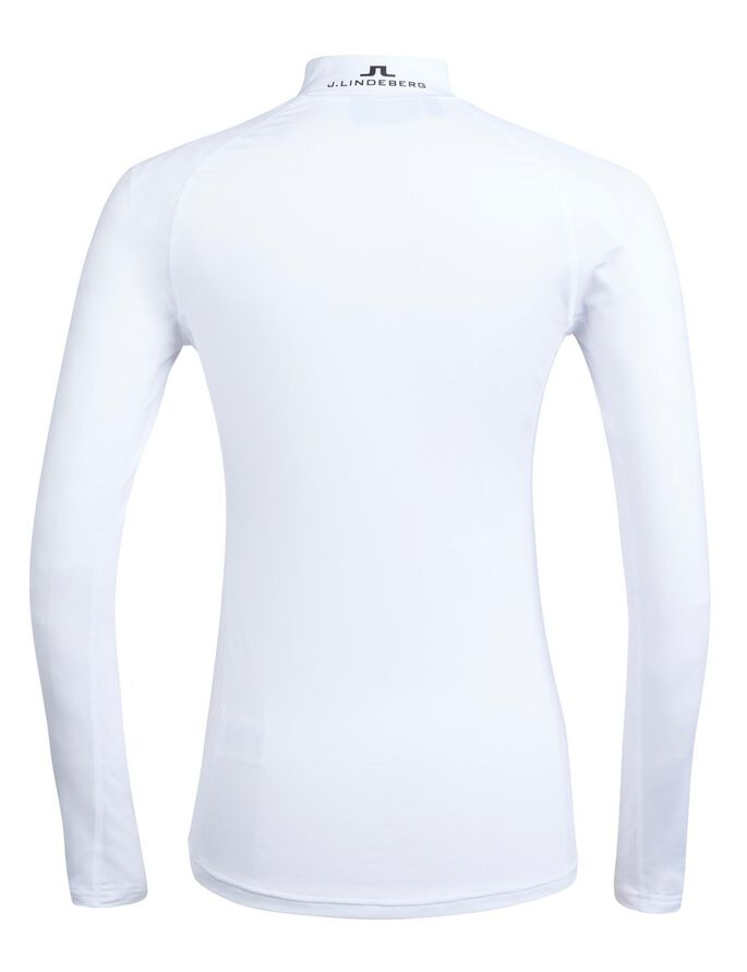ÅSA SOFT COMPRESSION SPORTS TOP, White, large