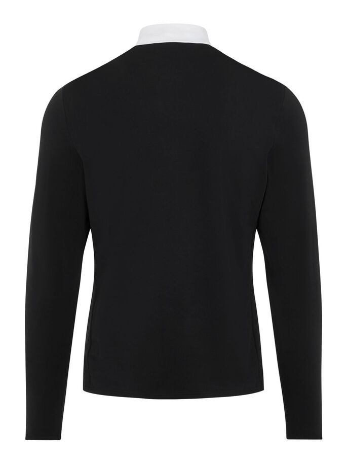 SASHA CREW NECK PULLOVER, Black, large