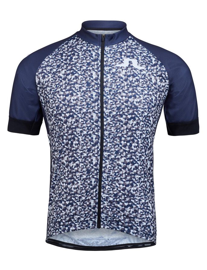 ROUBAIX BIKE JERSEY PRO-POLY FUNKTIONSSHIRT, Mosaic Navy, large