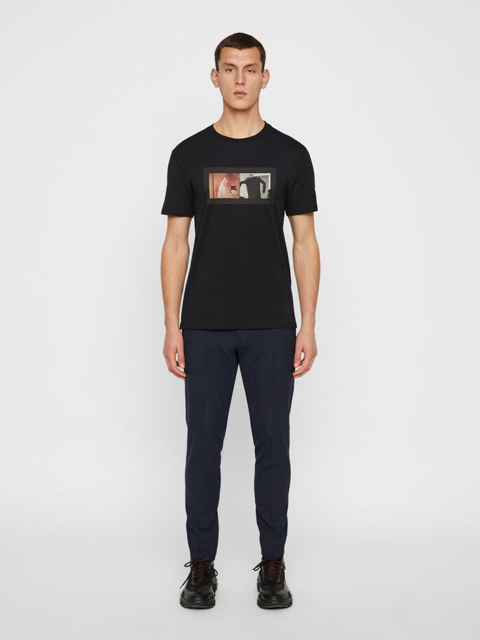 KENNETH GRAPHIC COTTON T-SHIRT, JL Navy, large