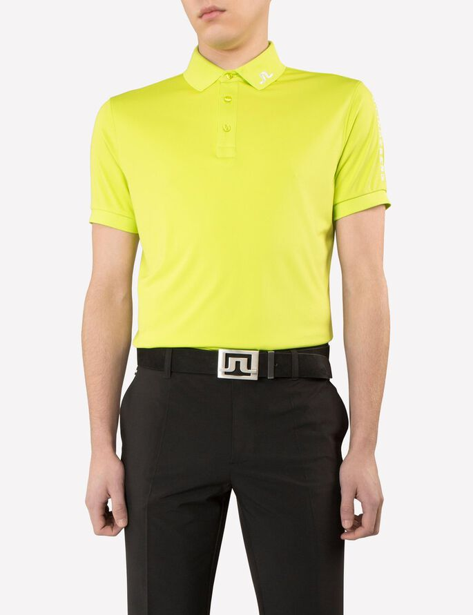 TOUR TECH SLIM TX JERSEY- POLOSHIRT, Lime, large