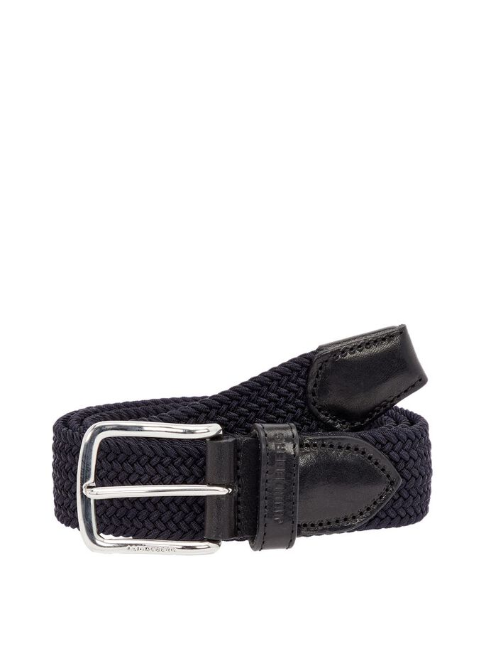ELASTIC BRAID BELT, Navy, large
