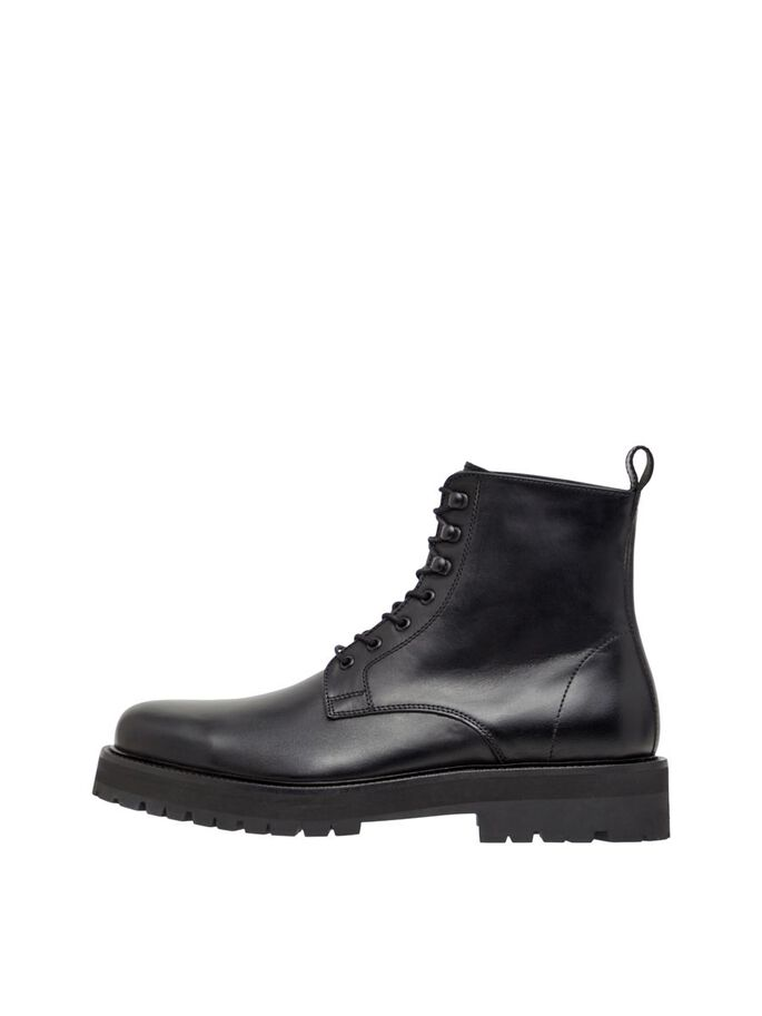 ARMY LEATHER BOOTS, Black, large