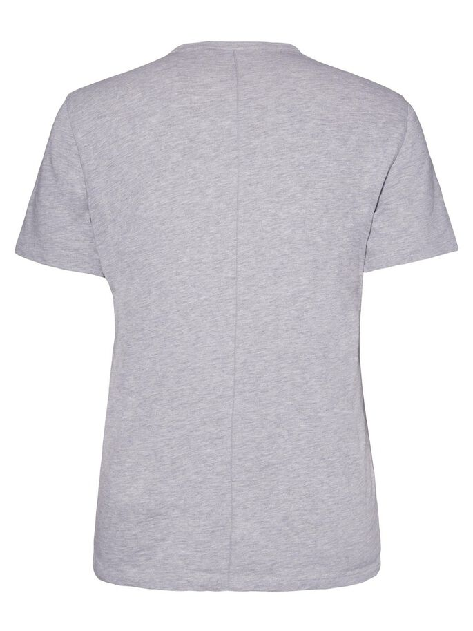SILO SLUB PIQUE T-SHIRT, Lt Grey Melange, large