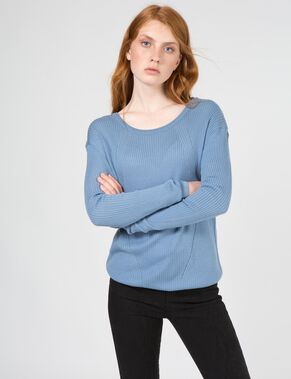 MCKENZI LIGHT RIB KNITTED PULLOVER