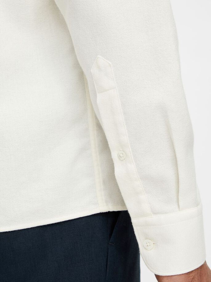 REFINED CREPE REGULAR FIT SHIRT, Cloud White, large