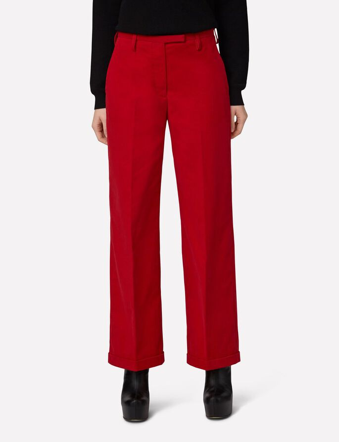 KORI CORDUROY SUIT TROUSERS, Red Deep, large