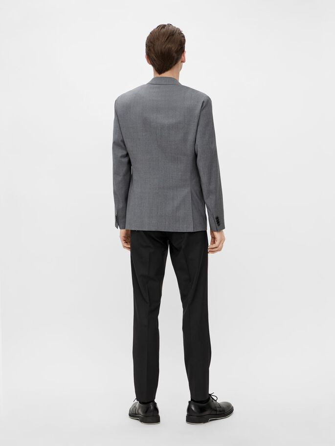 HOPPER WOOL BLAZER, Stone Grey, large