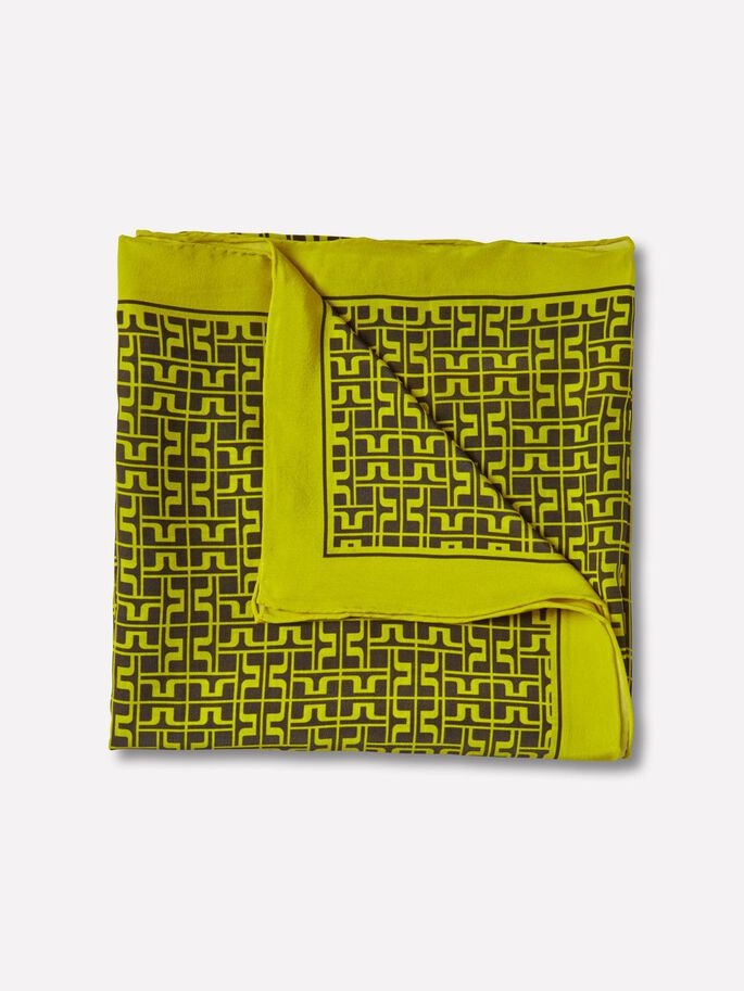 SQUARE JL PRINTED SCARF, Lemon, large