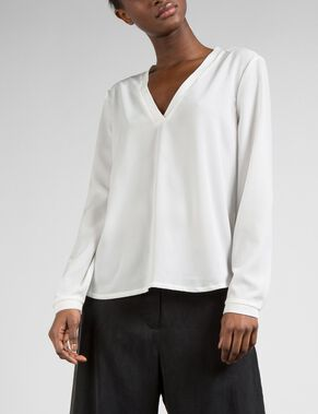 HOPE RIB SPRING DRAPE BLOUSE