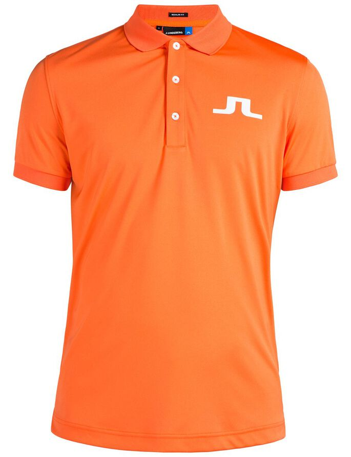 BIG BRIDGE REG TX JERSEY POLOSKJORTE, Racing Orange, large