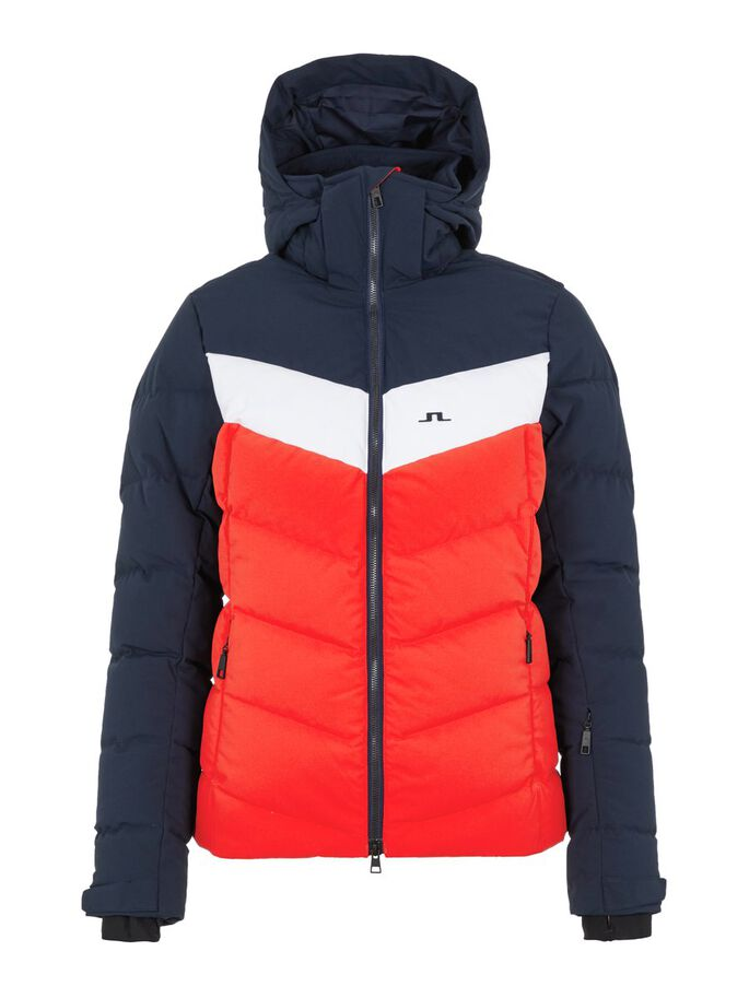 RUSSEL DOWN SKIJACKE, Racing Red, large