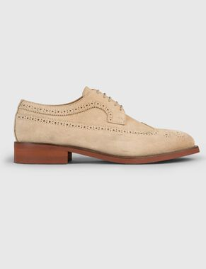 ENG BROGUE ITALIAN SUEDE SHOES