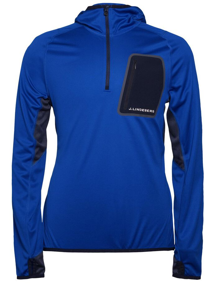 ELEMENTS JERSEY HARDLOOP HOODIE, Strong Blue, large