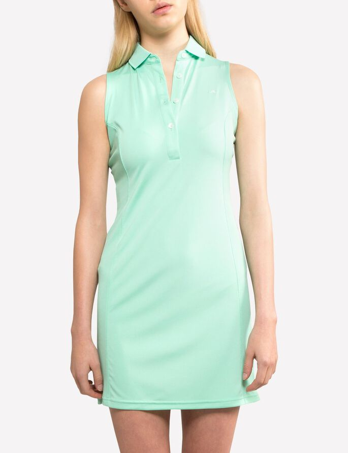 LOUISE TX JERSEY KLEID OHNE ÄRMEL, Mint, large