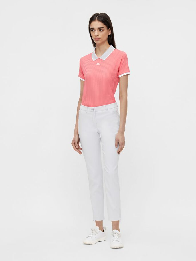 SEVINA POLO SHIRT, Tropical Coral, large