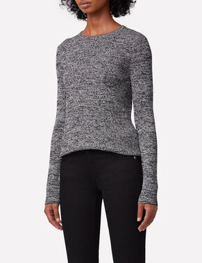 MATEA DRAPY RIB KNITTED PULLOVER